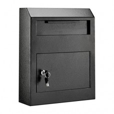 AdirOffice Heavy Duty Secured Safe Drop Box (Black)