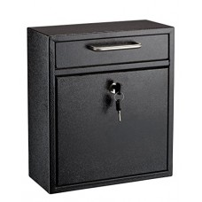 AdirOffice Locking Drop Box – Wall Mounted Mailbox – (Med...