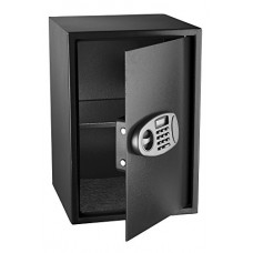 AdirOffice Security Safe with Digital Lock, Black, 2.32 C...