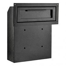 AdirOffice Through-The-Door Safe Locking Drop Box (Black)
