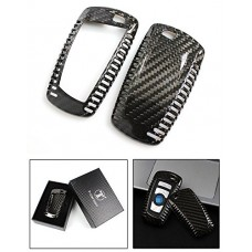 100% Carbon Fiber Keyless Smart Key Fob Cover for BMW 1 2...