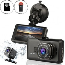 Ampulla Sentry HD Dash Cam Front and Rear Camera with Ful...