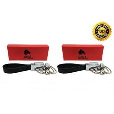 #1 BEST Premium Quality Elegant Classic Casual Durable Stylish Genuine Leather Strap Valet Key Chain Car Key Keyring Key Fob with 4 Detachable Key ...