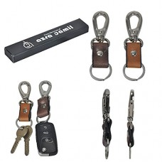 Genuine Leather Key Chain Ring Combo Fob Solid Hi-Nickel ...
