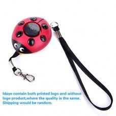 130DB Emergency Personal Alarm Key Chain,iDaye Ladybug-Sh...