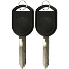 2 KeylessOption Replacement Ignition Chipped Key For Ford...