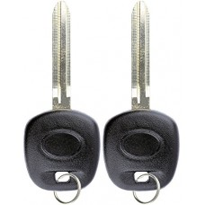 2 KeylessOption Replacement Uncut Ignition Chipped Key Tr...