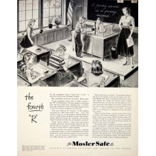 1950 Ad Mosler Safe Vault 320 Fifth Ave New York Bank Sch...