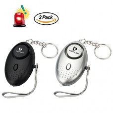 2 Pack 130Db Emergency Personal Security Safety Alarms Se...