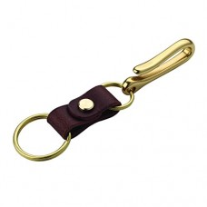 Handmade Genuine Leather Keychain - Solid Brass Hardward ...