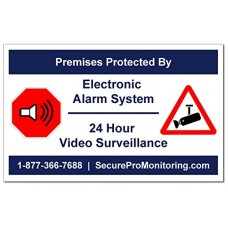 "10 ""REAL"" Electronic Burglar Alarm 24 Hour Video Surveill..."