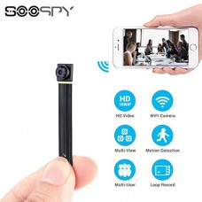 1080P Wireless WiFi Mini Camera- SOOSPY Indoor Outdoor Po...