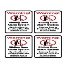 4 VAS #111 Security System Decal Stickers For Window & Sl...