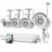 Zmodo 8CH Wireless Security Camera System - 1080P HDMI NV...